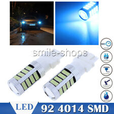 2pcs Ice Blue 3156 3157 3457 T25 4157 92SMD LED 4014 Daytime Running Light Bulbs