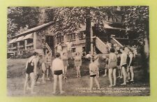 LEESVILLE, CT, TED HILTON'S ELM CAMP, CAMPERS AT PLAY, COLLOTYPE PUB, used 1943
