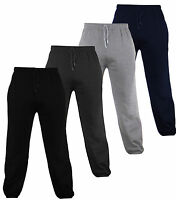 Mens Bottoms Joggers lounge Pants Tracksuit Jog Bottom Fleece ZIP POCKETS S-XXL