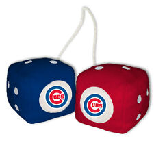 CHICAGO CUBS PLUSH FUZZY DICE CAR MIRROR DANGLER MLB BASEBALL