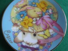 Avon Fine Collectibles*My Easter Bonnet 1995 Easter Plate*With Stand*Nib*