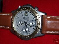 Heuer 2000  RARE Chronograph - 25 Jewels - SS & GP - NEW TAG strap - MINT