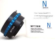 "Novoflex MFT/NIK Adapter Nikon lens to M43 MFT Panasonic, Olympus OM-D ""NEW"""