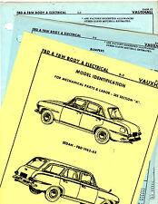 1962 1963 VAUXHALL FBD SEDAN FBW STATION WAGON BODY ELECTRICAL PARTS SHEETS MF 3