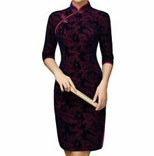 chinese Qipao Cheongsam Dress Party special occasion dress size uk 12-14- New