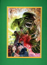 INCREDIBLE HULK ORIGIN COLLAGE PRINT PROFESSIONALLY MATTED Alex Ross