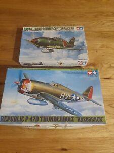 1/48 Tamiya Republic P-47D Thunderbolt & Mitsubishi Interceptor Raiden ( Jack)