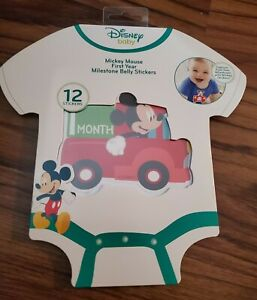 NEW Disney Baby Mickey Mouse First Year Milestone Belly Stickers Photo Prop
