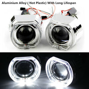 "2.5"" LED Angel Eye HID Bi-Xenon Projector Lens Focus And With Sharp Cut-off Line"