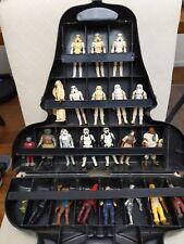 Vintage 1980 Star Wars Darth Vader Carry Case w/ 23 Vintage Loose Figures