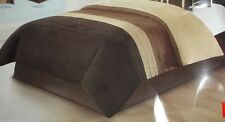 Queen size Comforter 3 shades brown polyester reversible
