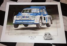 Mg Metro 6R4 de visión informática V6 Rally Coche Nuevo Pintura Impresión obras de arte han movilizado