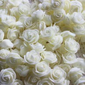 500Pcs PE Foam Rose Head Artificial Flower for DIY Bear Doll Household Decor