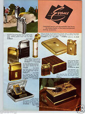 1957 PAPER AD 4 PG Evans Table Pocket Cigarette Lighter China Purse Hand Bag