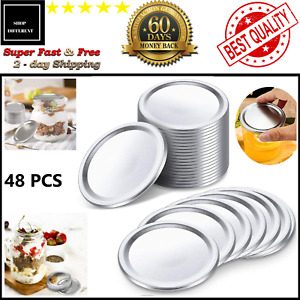 48PCS Regular Mouth Canning Jar Lids Split-Type And Leak Proof 100% 2.7in 48 Pcs