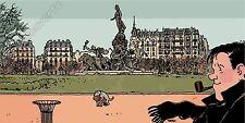 Affiche TARDI Nestor Burma Paris 11ème arrondissement 25x50 cm