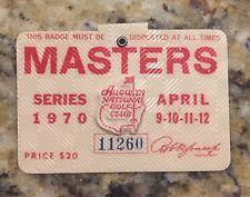 1970 MASTERS GOLF AUGUSTA NATIONAL BADGE TICKET BILLY CASPER WINS RARE NO PIN