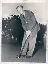 1940 Miami FL Professional Golfer John Thoren In His Army Uniform Press Photo