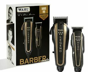 Wahl 8180 5-Star Series Barber Combo Legend Clipper and Hero Trimmer Black/Gold