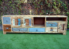 Vintage Industrial Retro Timber Entertainment Unit TV Stand Sideboard Cabinet