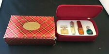 ESTEE LAUDER 4 MINI  PERFUME GIFT, TRAVEL SET W /  CASE & BOX