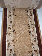 Teppichläufer nach Maß Meterware B/ 100 x L/ 500 cm Beige Bettumrandung Flur
