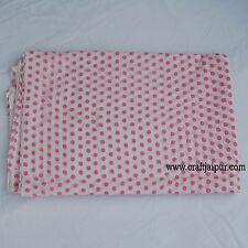 10 yard Hand Block Print 100% Pure Cotton Floral Printed Indian Sanganeri Fabric