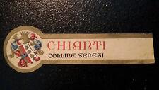 ETICHETTA LABEL da fiasco  CHIANTI COLLINE SENESI  Vintage anni'50  cm 11 x 3