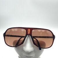 Vintage Carera 5547 Brown Gold Aviator Sunglasses Austria FRAMES ONLY