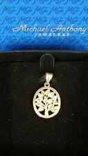 Vintage Michael Anthony Ma 14K Yellow Gold Oval Tree Pendant w/Box