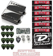 EMG JH SET JAMES HETFIELD BLACK CHROME STANDARD SPACED (42 PICKS, TIN & 6 SETS)