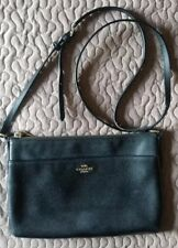 AUTHENTIC COACH EAST/WEST  CROSS BODY Pebbled LEATHER  BLACK