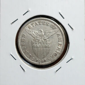 1909-S (AU), 1908-S (XF) and 1907-S (VF) 50 Centavos, 3-Coin LOT, Cleaned