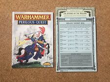 Warhammer Perilous Quest Book + Cards & Tokens Bretonnia 1997 RARE - Fast Post