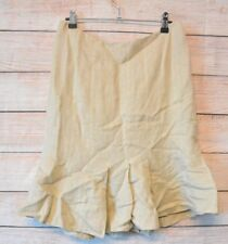 MAX & CO MAX MARA Skirt Sz 14 Large Beige Gold A line Fluted skirt