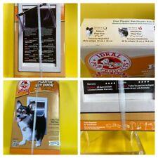 "New Ideal Pet Products Medium 7"" X 11-1/4"" Flap Thermoplastic Pet Door Ppdm Nib"