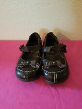 Carter's Girls Brown W/Plaid Bow Slip -On W/Strap Mary Jane Shoes Size 8