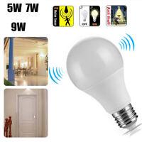 E27 Radar Sensor PIR Motion LED Globe Light Bulb 5/7/9/12W Home Garden Lamp
