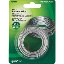 70 Pk Hillman Anchor Wire 40# Capacity #4 Braided Wire X 25' Picture Wire 121112