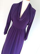 Stunning Easywear FRANK LYMAN purple Dress & Bolero / Shrug Uk12 wedding cruise