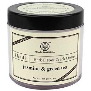 Khadi Natural Herbal Jasmine and Green Herbal Tea Crack Cream, 100GM