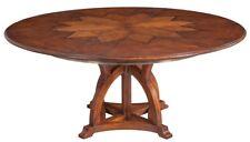 "54"" Sandro Jupe Dining Table Medium Solid Walnut White Oak Wood Veneer Brass Tri"