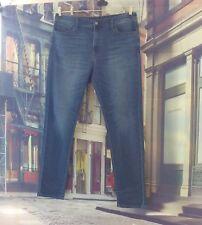"Uniqlo Blue Denim Straight Leg Jeans. 38""elasticated waist, 32"" length."