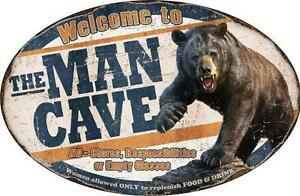 Welcome to The Man Cave No Chores Responsibilities Empty Glasses Novelty Sign