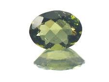 0.88cts OVAL standart cut 6x8mm moldavite faceted cutted gem BRUS1263