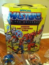 """Huge Lot of He-Man Action Figures """"22"""" MOTU TONS OF WEAPONS! AND Case!"""