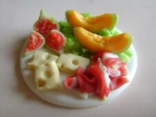 1 dolls house miniatures food salumi platter maison de poupée Dolls house fimo^
