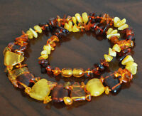 baltic amber necklace multicolor natural