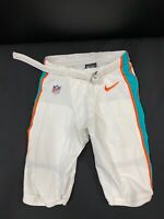 #32 MIAMI DOLPHINS NIKE GAME USED WHITE PANTS 2019/2020 SEASON WITH BELT