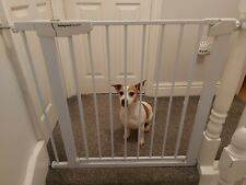 More details for pet dog safety gate stair, room divider barrier 76-82cm, 4 extensions available